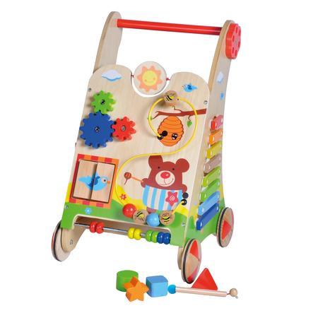 knorr® toys Chariot d'activité Bernie l'ours bois