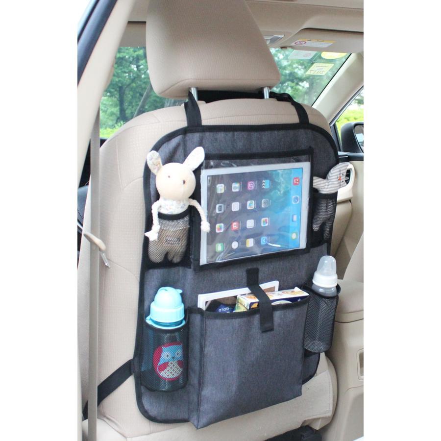 Altabebe Borsa porta oggetti per sedile auto Basic nero- grigio