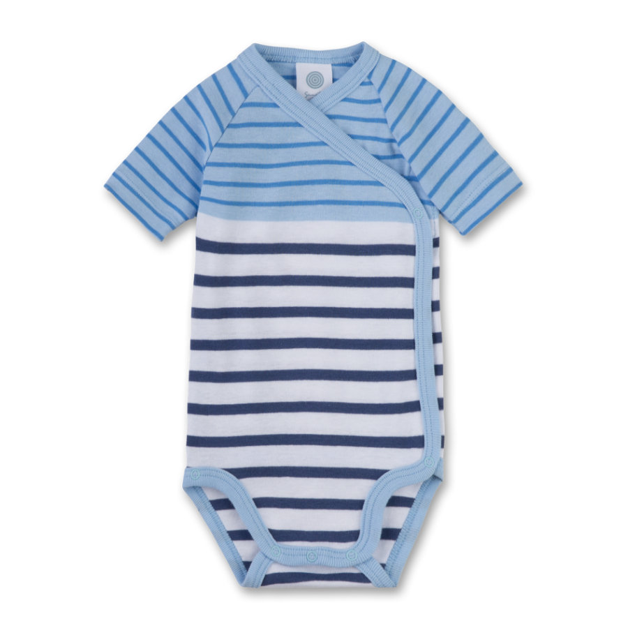 Sanetta Boys Wickelbody 1/4 Arm light blue