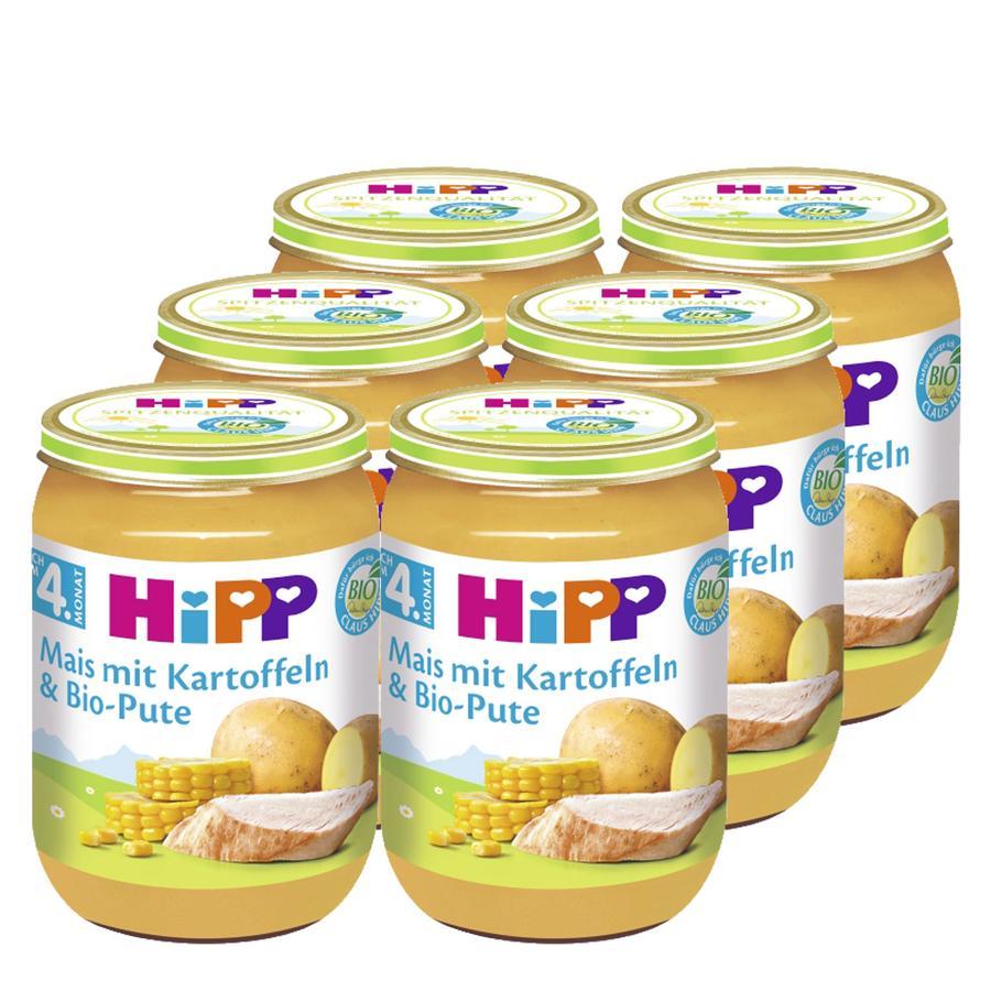 HiPP Mais mit Kartoffeln und Bio-Pute 6 x 190 g