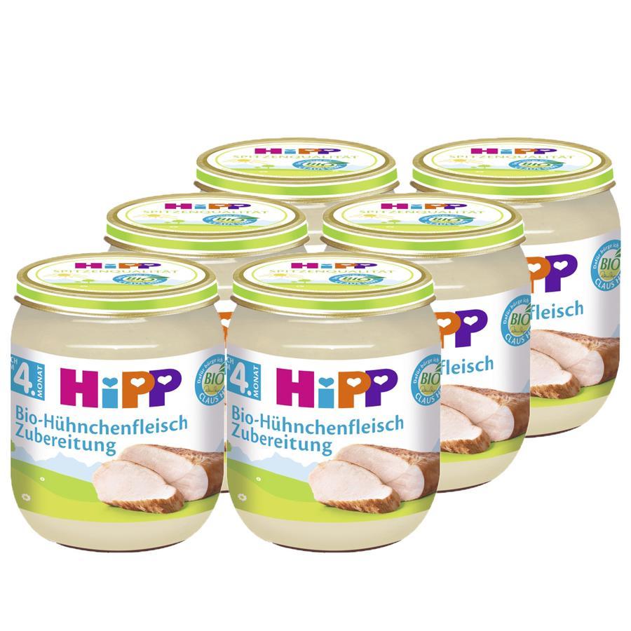 HiPP Bio Hühnchenfleisch fein püriert 6 x 125 g