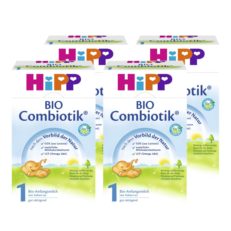 Hipp 1 Bio Combiotic ® Infant Formula Pack of 4 (4 x 600g)