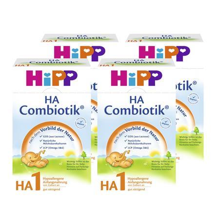 HiPP Anfangsmilch HA1 Combiotik® Hypoallergene Säuglingsmilch von Geburt an 4 x 500 g