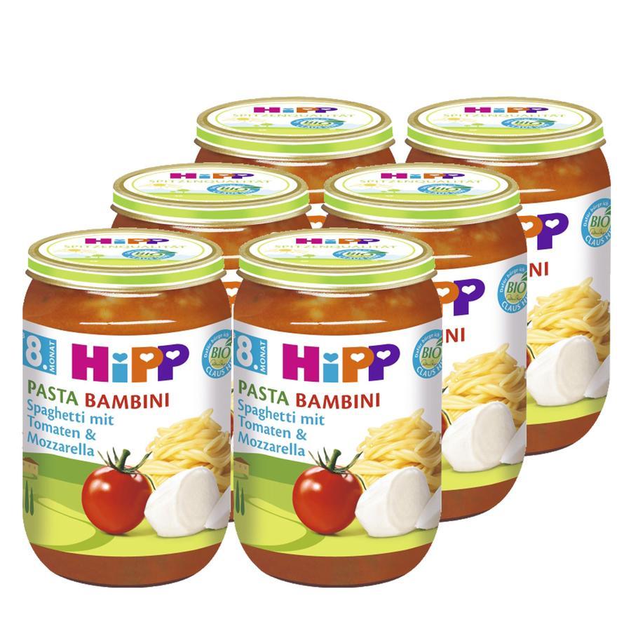HiPP Bio Spaghetti mit Tomaten und Mozzarella 6 x 220 g