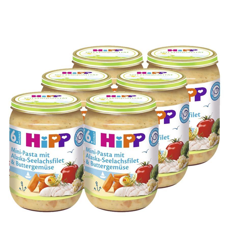 HiPP Mini-Pasta mit Alaska-Seelachsfilet und Buttergemüse 6 x 190 g