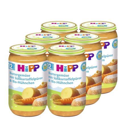 HiPP Buttergemüse mit Süßkartoffelpüree und Bio-Hühnchen 6 x 250 g