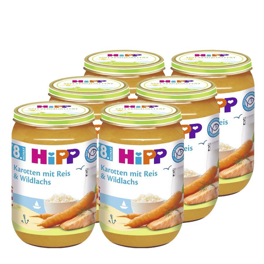 HiPP Karotten mit Reis und Wildlachs 6 x 220 g