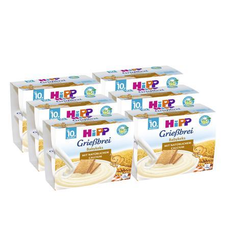 HiPP Bio Grießbrei Babykeks 6 Stück (4 x 100 g)