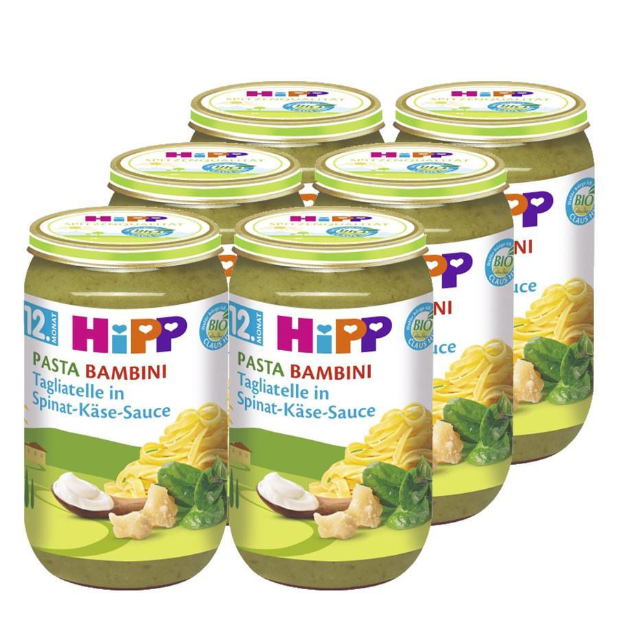 HiPP Pasta Bambini Tagliatelle in Spinat-Käse-Sauce 6 x 250g