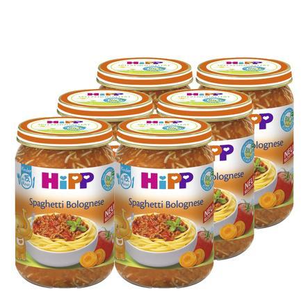 HiPP Bio Spaghetti Bolognese 6 x 250 g