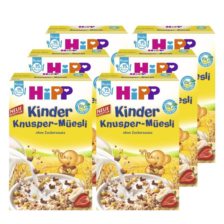 HiPP Kinder Knusper Müsli 6 x 200 g
