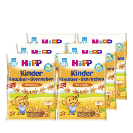HiPP Snack Stars with Vegetables 6x30g