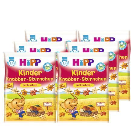 HiPP Knabber Sternchen mit Früchten 6x30g