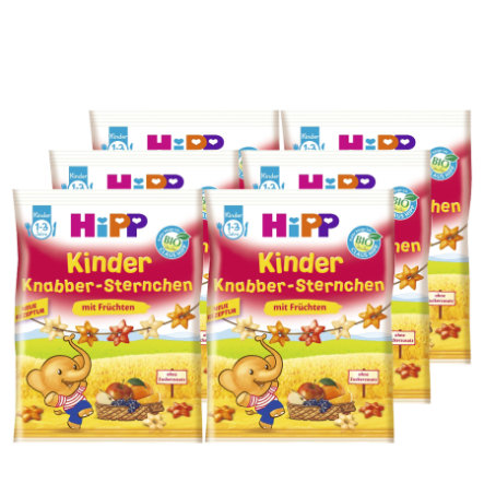 HIPP Snack Stars with Fruits 6x30g