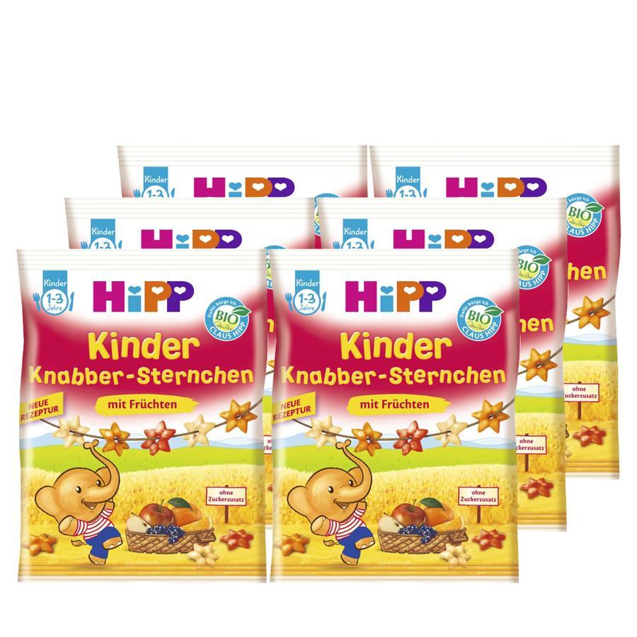 HiPP Knabber Sternchen mit Früchten 6 x 30 g