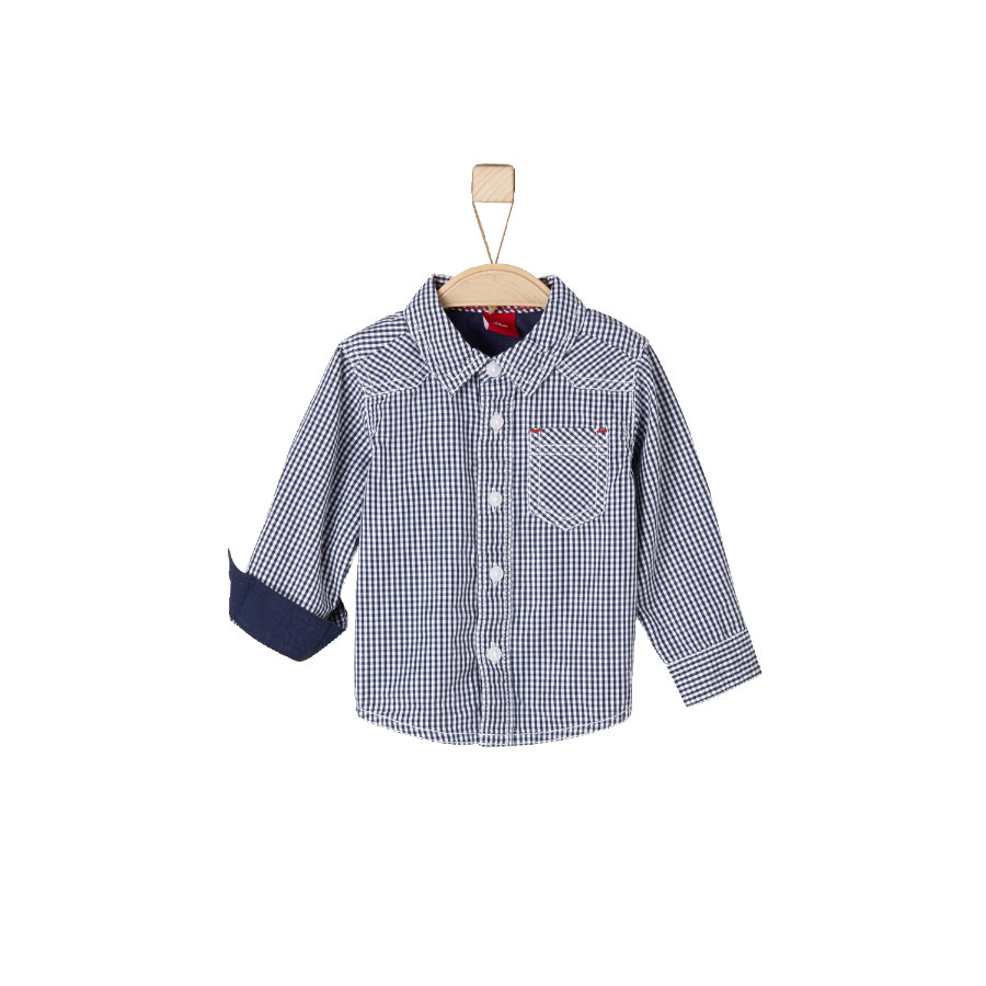 s.Oliver Boys Hemd dark blue check