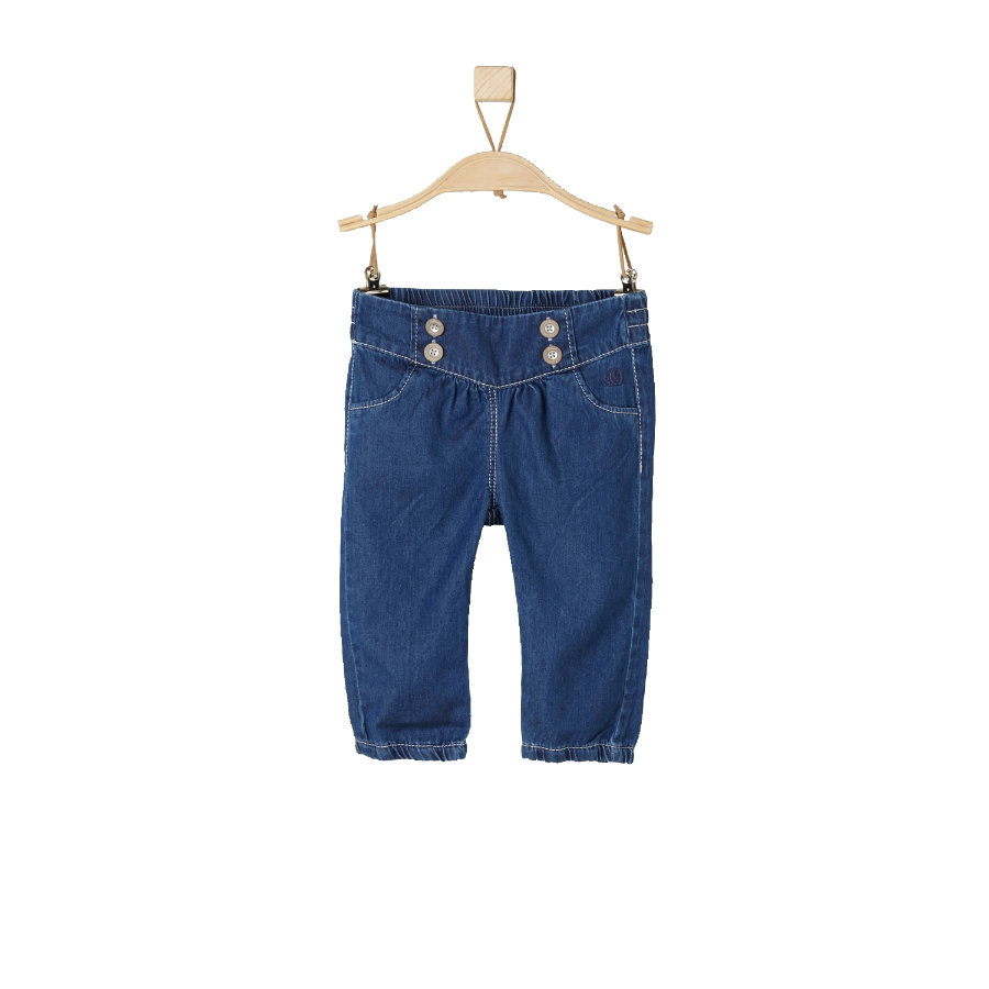 s.Oliver Girl s Jeans blauw denim regelmatig