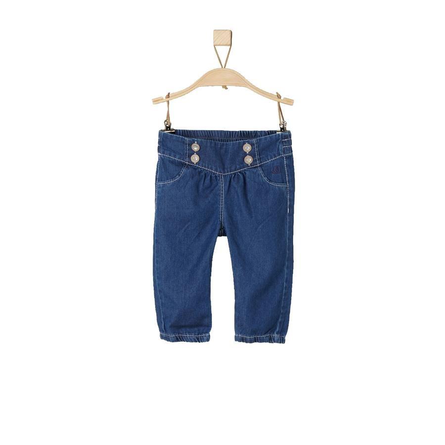 s.Oliver Girls Jeans blå denim vanlig