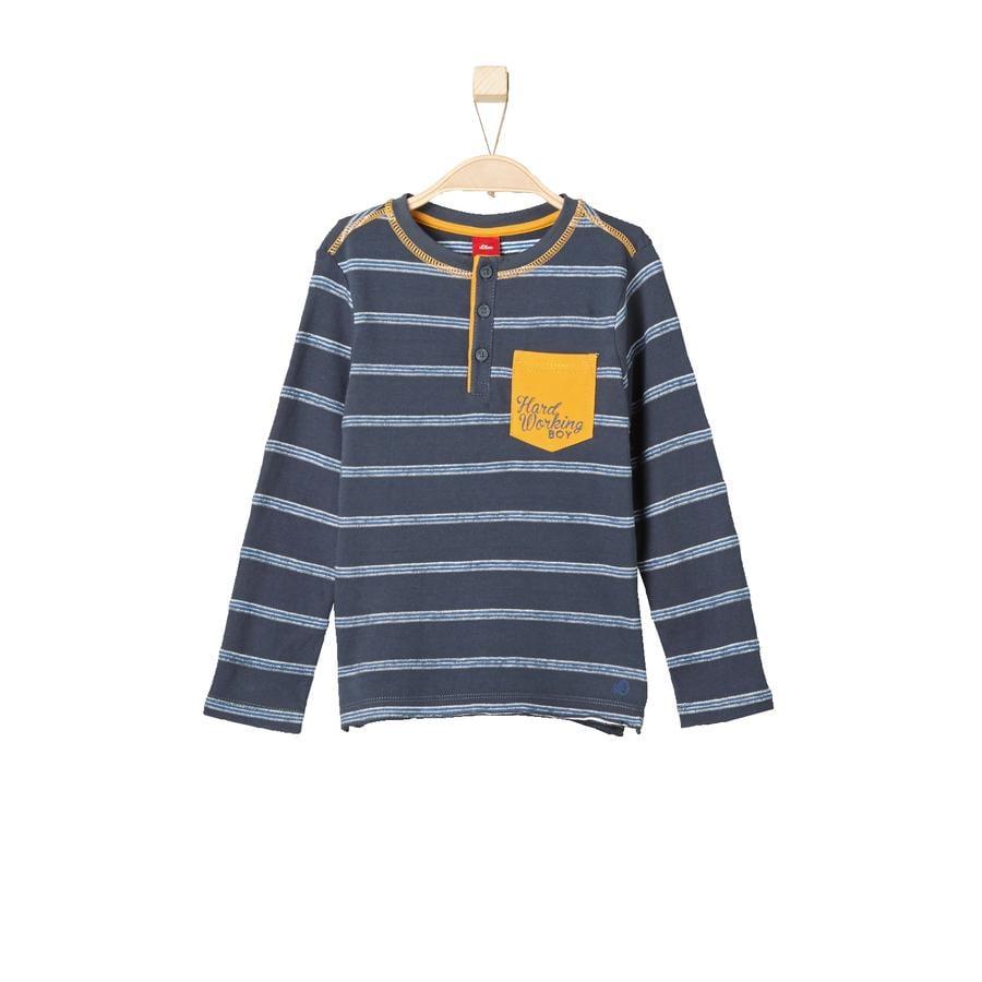 s.Oliver Boys Longsleeve anthracite stripes