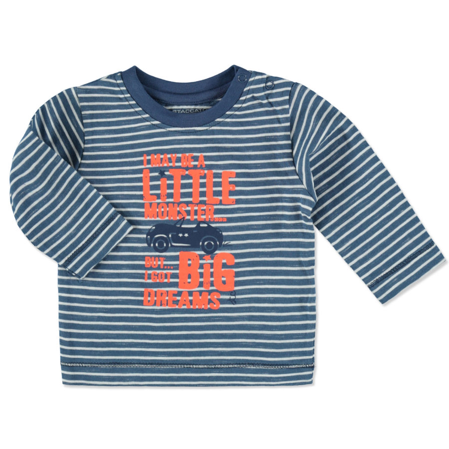 STACCATO Boys Baby Shirt denim blue Streifen