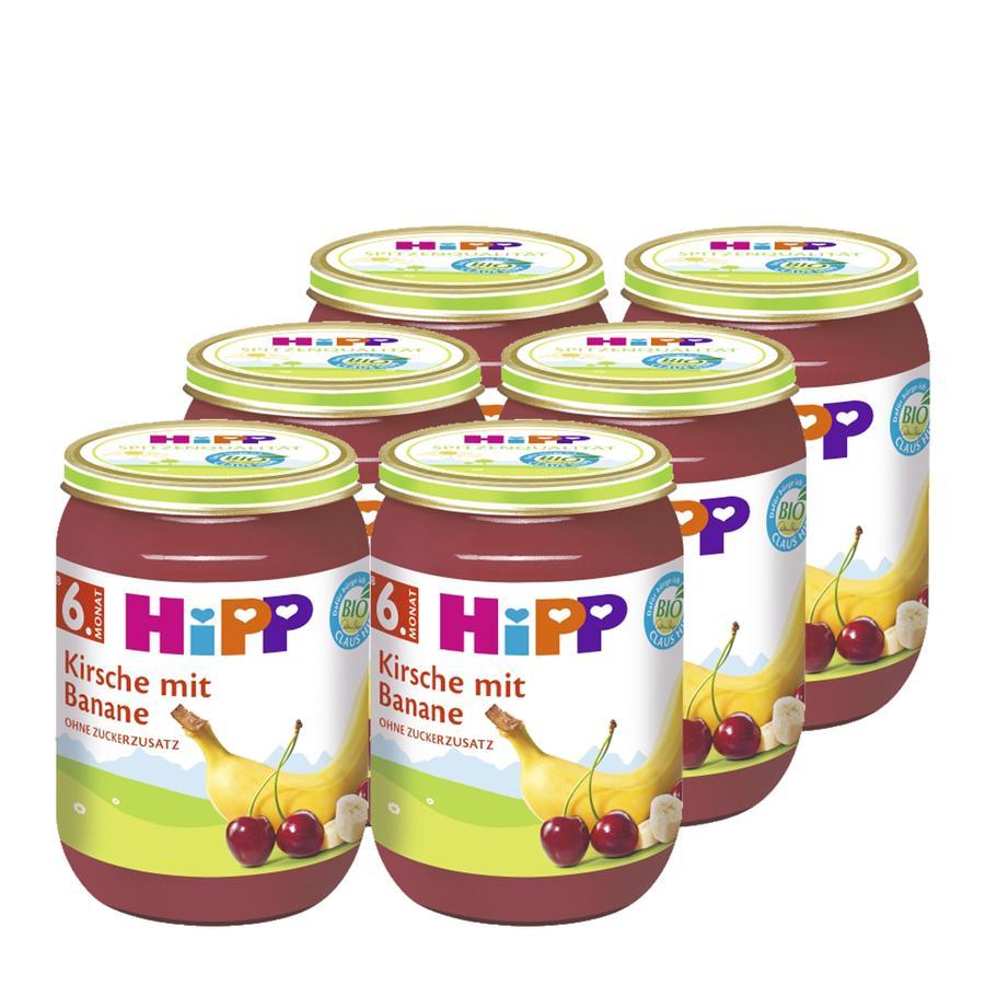 HiPP Kirsche mit Banane 6 x 190 g