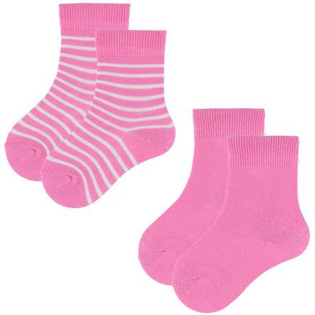 pink or blue Skarpetki pink 2 pary