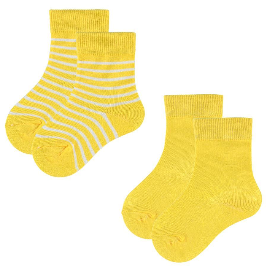 pink or blue Confezione da 2 calze da 2 giallo