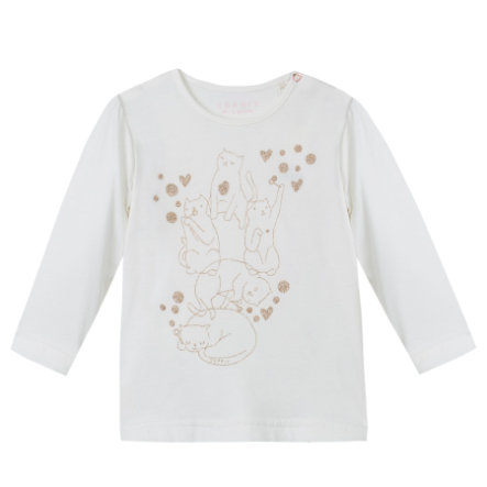ESPRIT Girls Longsleeve off-white Katze