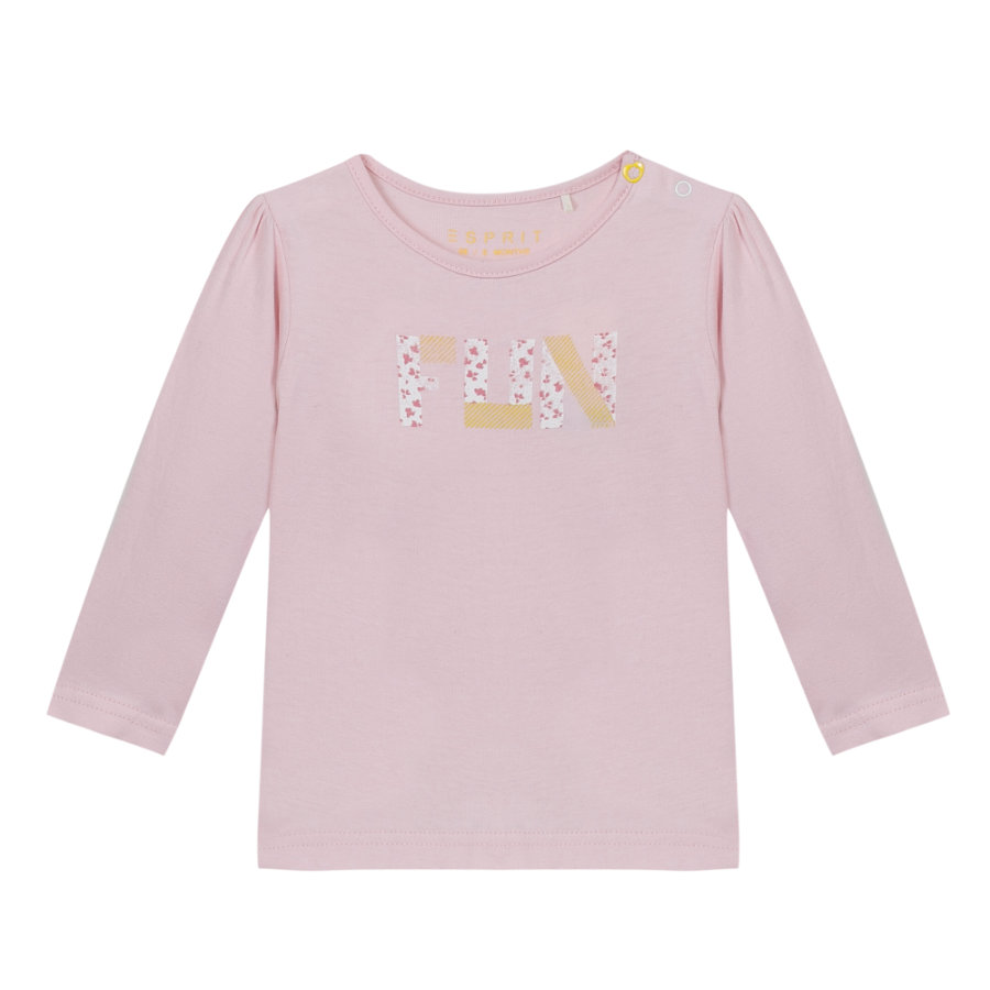 ESPRIT Girl s Camisa de manga larga rosa claro