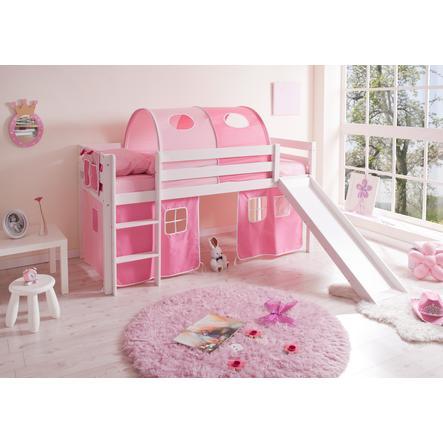 TICAA patrová postel se skluzavkou pink