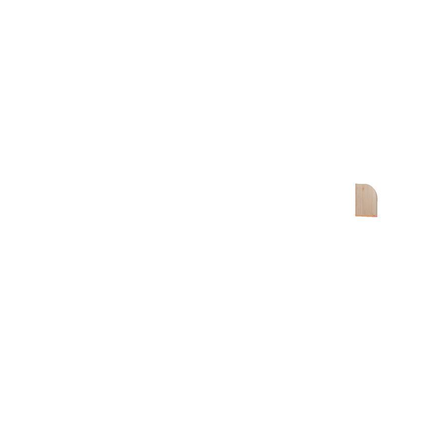 TiCAA Rutschbett Kasper Kiefer Natur rosa - pink mit Turm