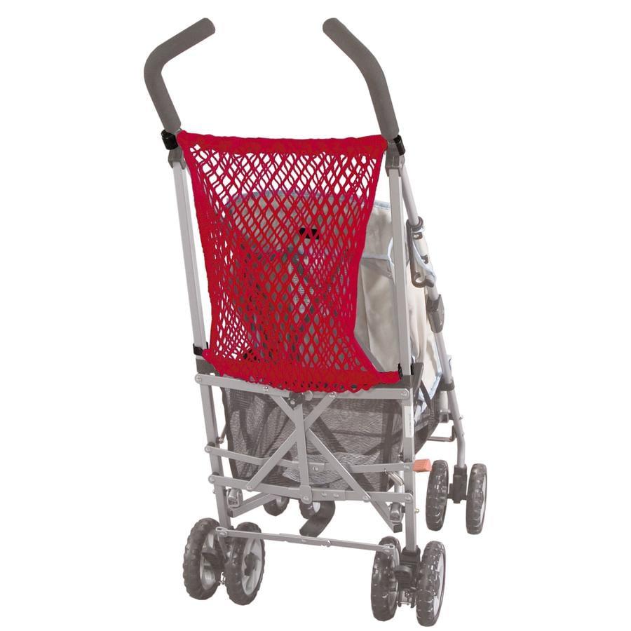 SUNNYBABY Rete portaoggetti universale per passeggino, rossa