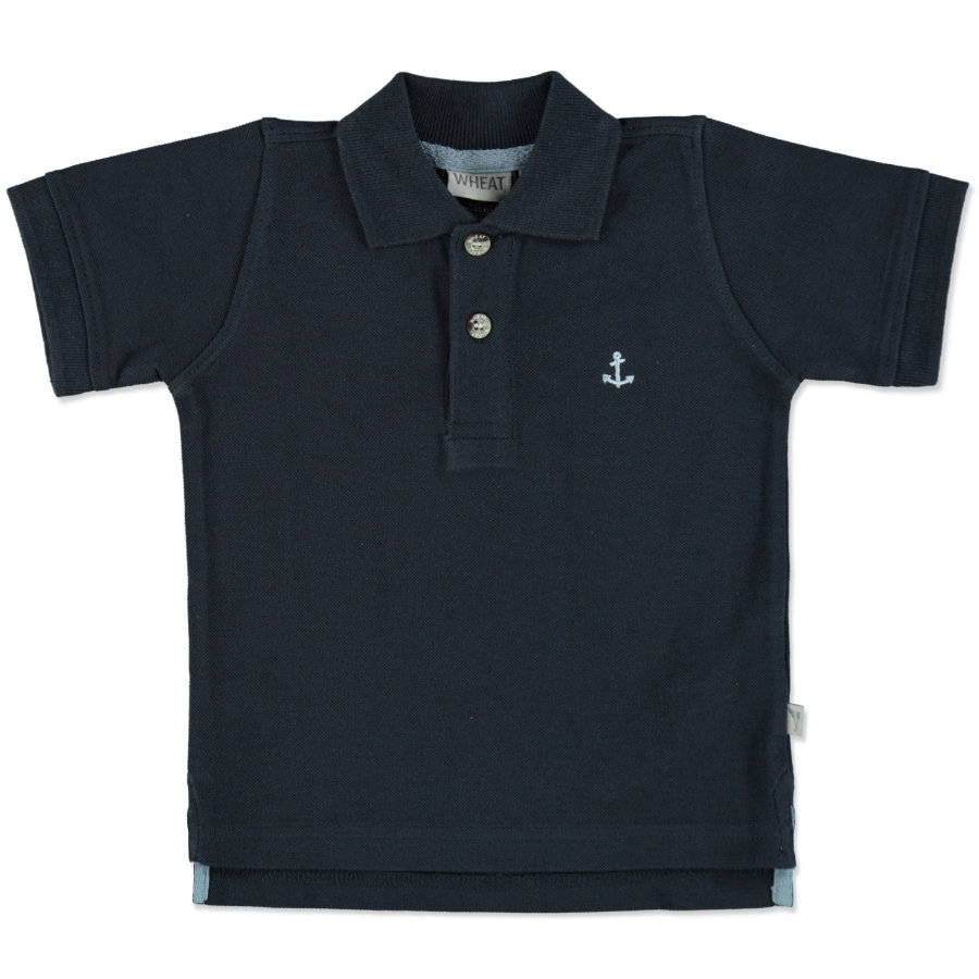 WHEAT Polo Anchor azul marino