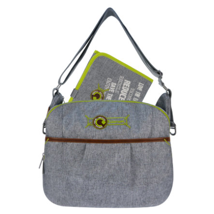 KIDZROOM Sac à langer Ecological rounded, gris clair