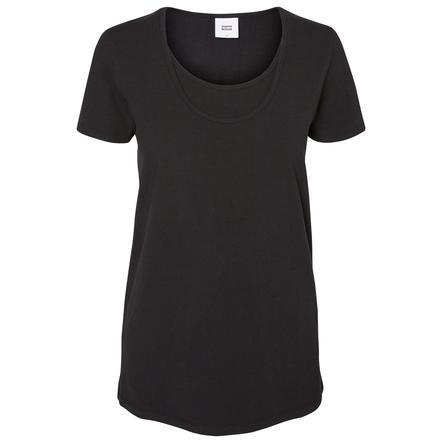 mama licious Bluzka z krótkim rękawem MLLEA Organic Nell dla kobiet w ciąży, 2 szt. czarny