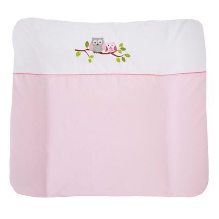 JULIUS ZÖLLNER Bezug für Wickelauflage kleine Eulen rosa