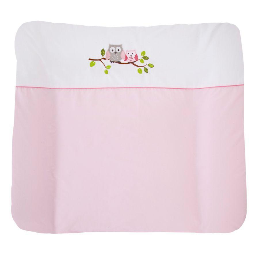 ZÖLLNER Aankleedkussen met applicatie kleine uil roze