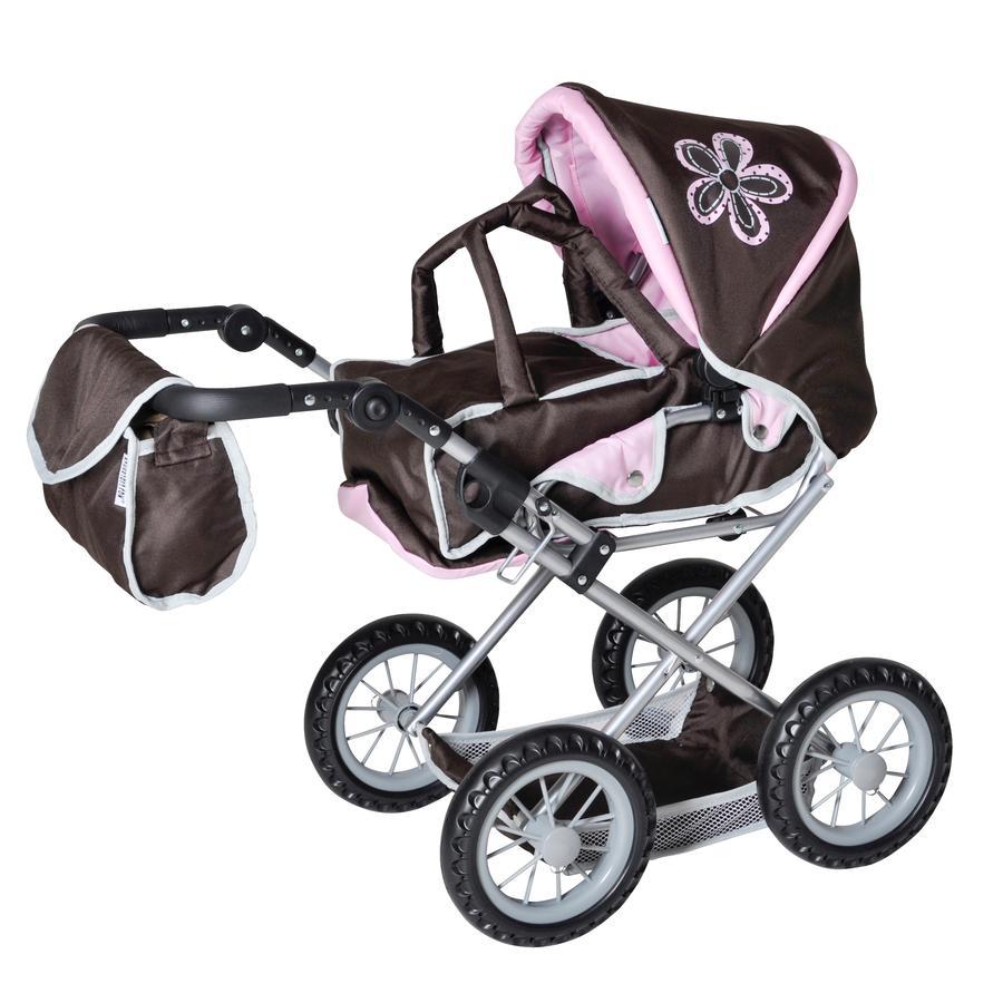 knorr® toys Kombinovaný kočárek pro panenky Ruby - brown flower
