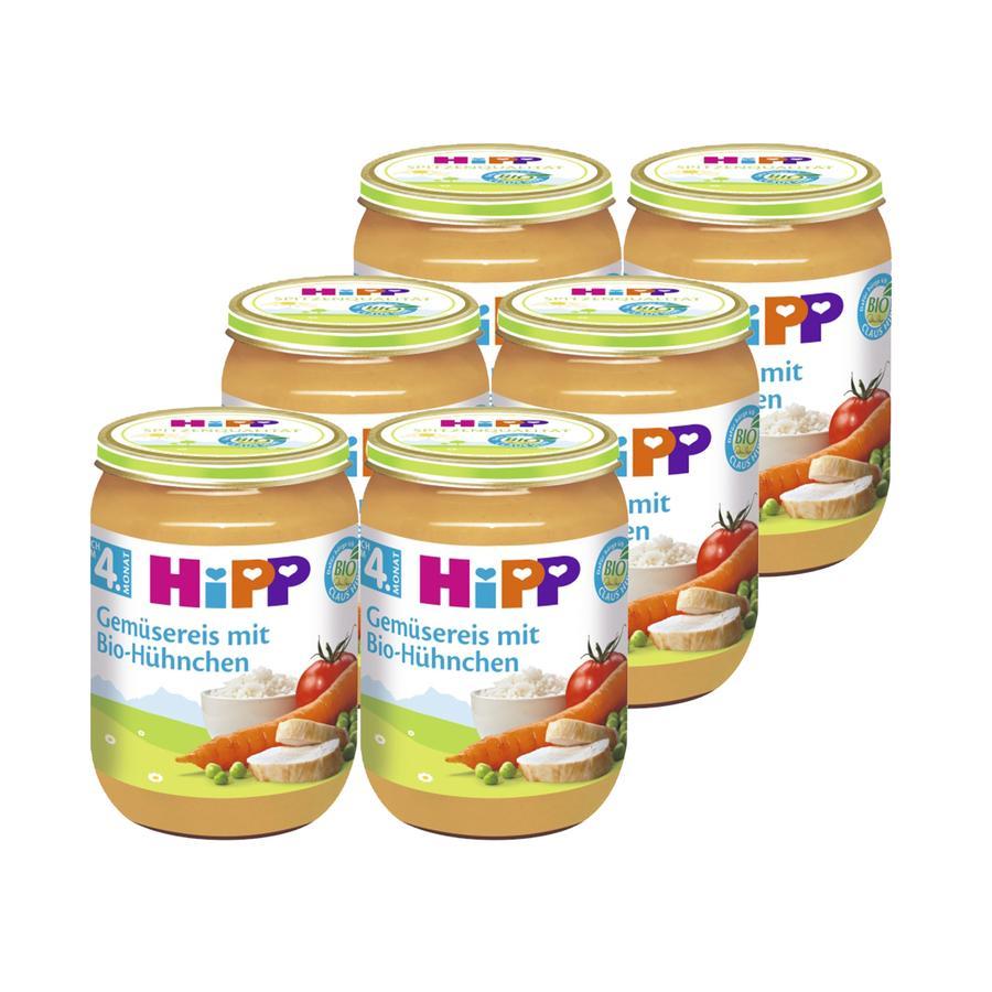 HiPP Bio Gemüsereis mit Bio-Hühnchen 6 x 190 g
