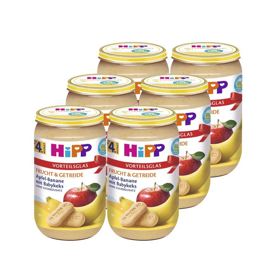 HIPP Bio Frucht & Getreide Apfel Banane mit Babykeks 6x250g