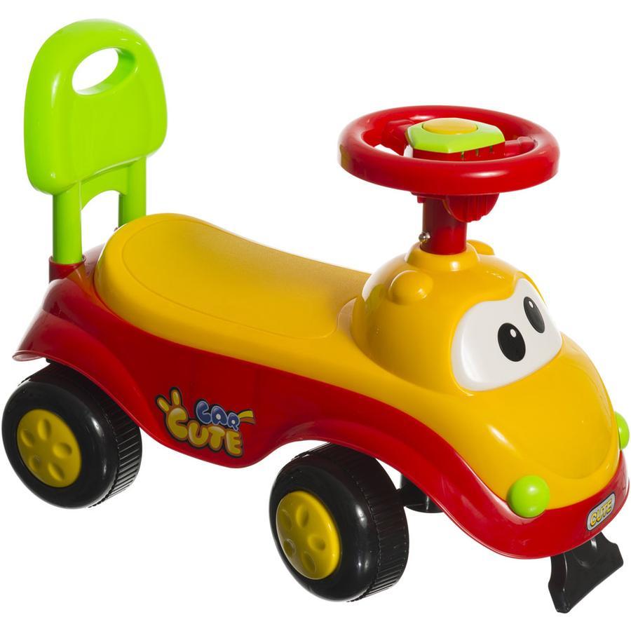 bieco Rutscher-Auto rot/gelb