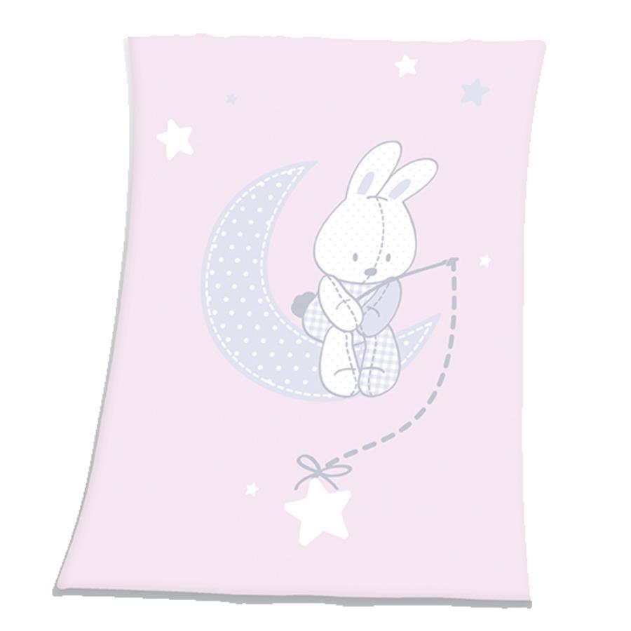 HERDING Flaušová deka z mikrovlákna - Fynn zajíček a hvězdičky