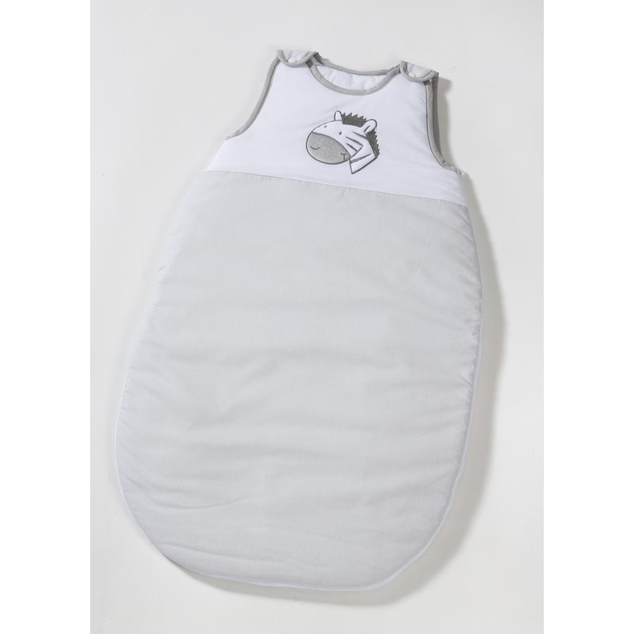 easy baby Sovepose Zebra grå, hvit