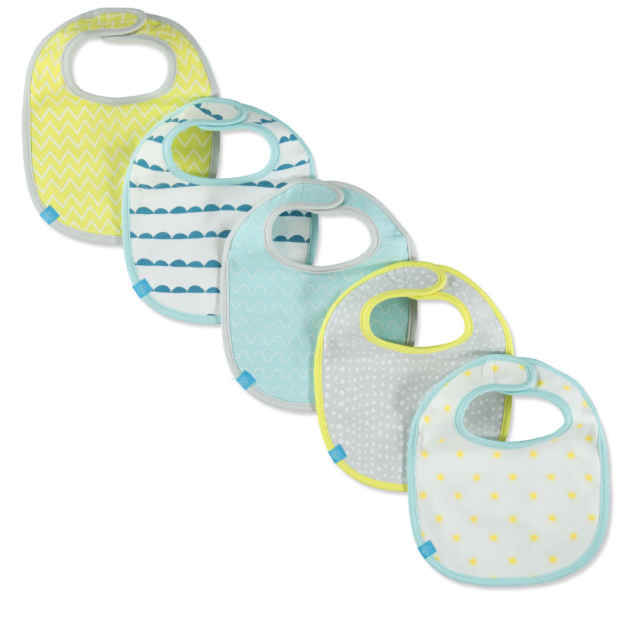 LÄSSIG Bavoir Bib Value Pack Summer Dream, Garçon, lot de 5
