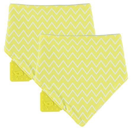 LÄSSIG Bandana foulard, avec anneau de dentition, 1 pièce, jaune