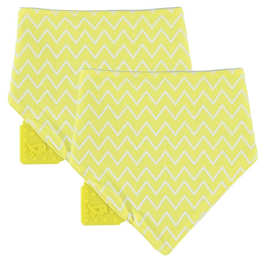 Lässig Driehoek sjaal Bandana met bijtring 1 stuk geel