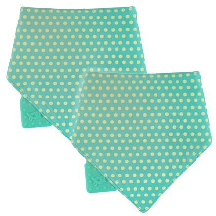 LÄSSIG Bandana foulard, avec anneau de dentition, 1 pièce, vert
