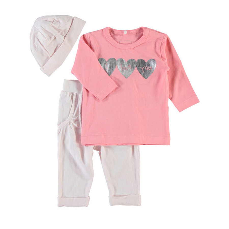name it Girls Komplet Solina barely pink
