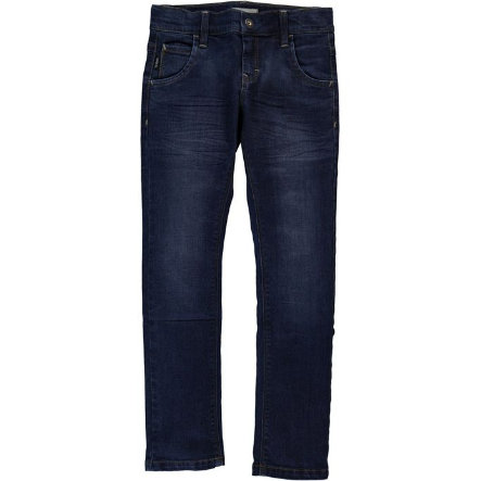name it Boys Jeans Ralf dark blue denim slim