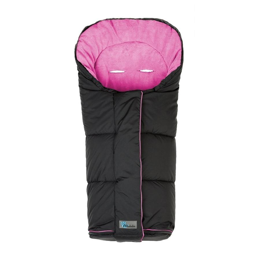 Altabebe Saco cubrepiés de invierno Nordic para cochecitos y sillas de paseo deportivas negro-rosa